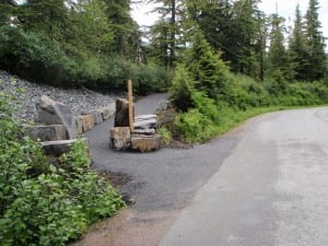 The new entrance to the Raven's Roost Trail is located across the road from Sandy Beach Park. Photo/Brad Hunter