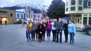 Petersburg High School students in Skagway for Art Fest with teacher, Ashley Lohr. Photo courtesy of Ashley Lohr