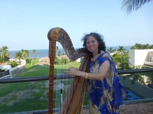 Harpist Christina Cabrera is performing in Petersburg Friday and Saturday nights at the Lutheran Church. Photo/cristinacabreraharp.com