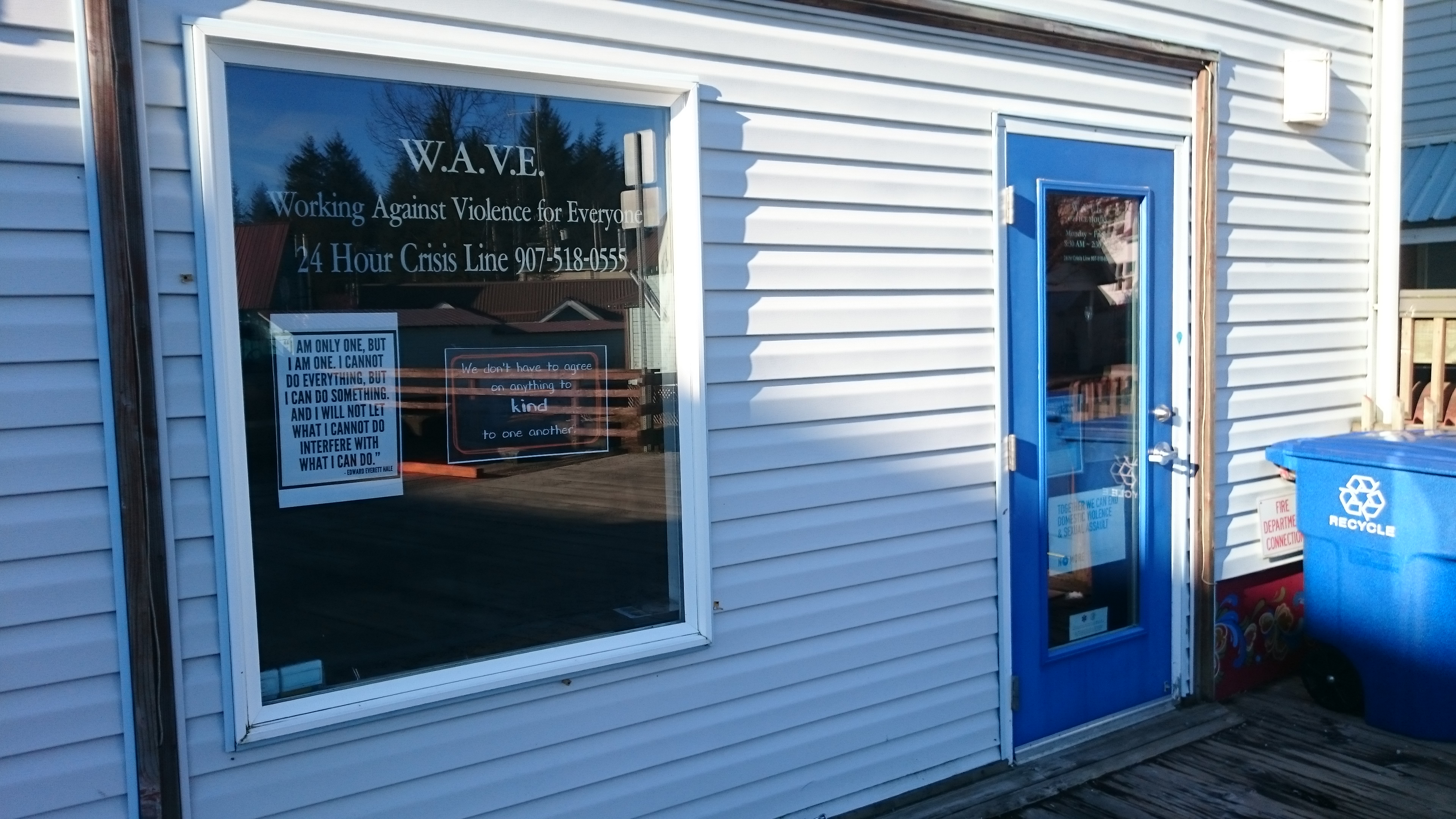 The WAVE office is on Sing Lee Alley near the Sons of Norway hall. Photo courtesy of WAVE