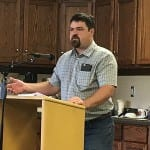 Chris Cotta, Assistant Public Works Director, addresses the Petersburg borough assembly July 18.
