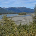A view from the sand dunes of the Stikine River mouth near Wrangell (KFSK file photo)