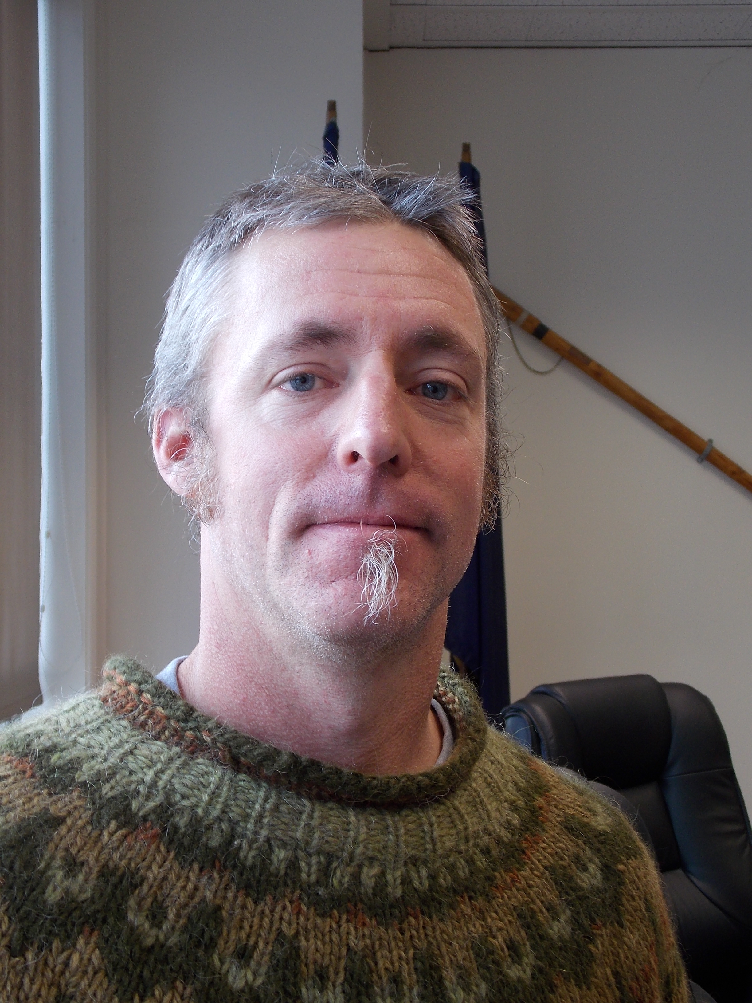 Jeigh Stanton--Gregor, 39, of Petersburg is running for reelection for Petersburg borough assembly.