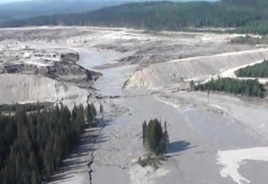 Those testifying at a legislative hearing Wednesday said the 2014 Mount Polley Mine tailings dam break is an example of what could happen to Southeast rivers. (Photo courtesy B.C. Ministry of Mines)