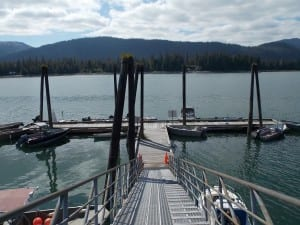 The state dock at Papke's Landing is used by recreational boaters, commercial and sport fishing fleets and remote residents accessing homes in the area. (KFSK file photo)