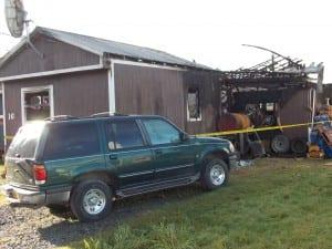 The mobile home at 16 South Fifth Street was gutted in Saturday night's fire.