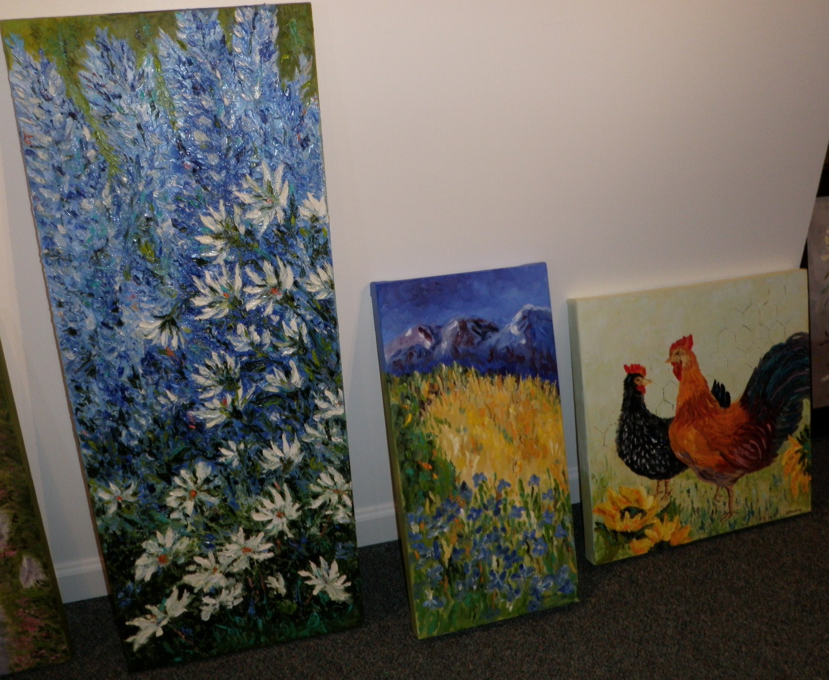 Oil painting flowers bloom at Clausen Museum