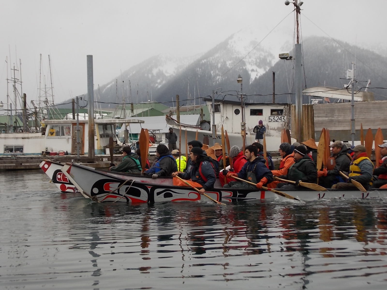Canoes on historic journey arrive in Petersburg, on way to Wrangell