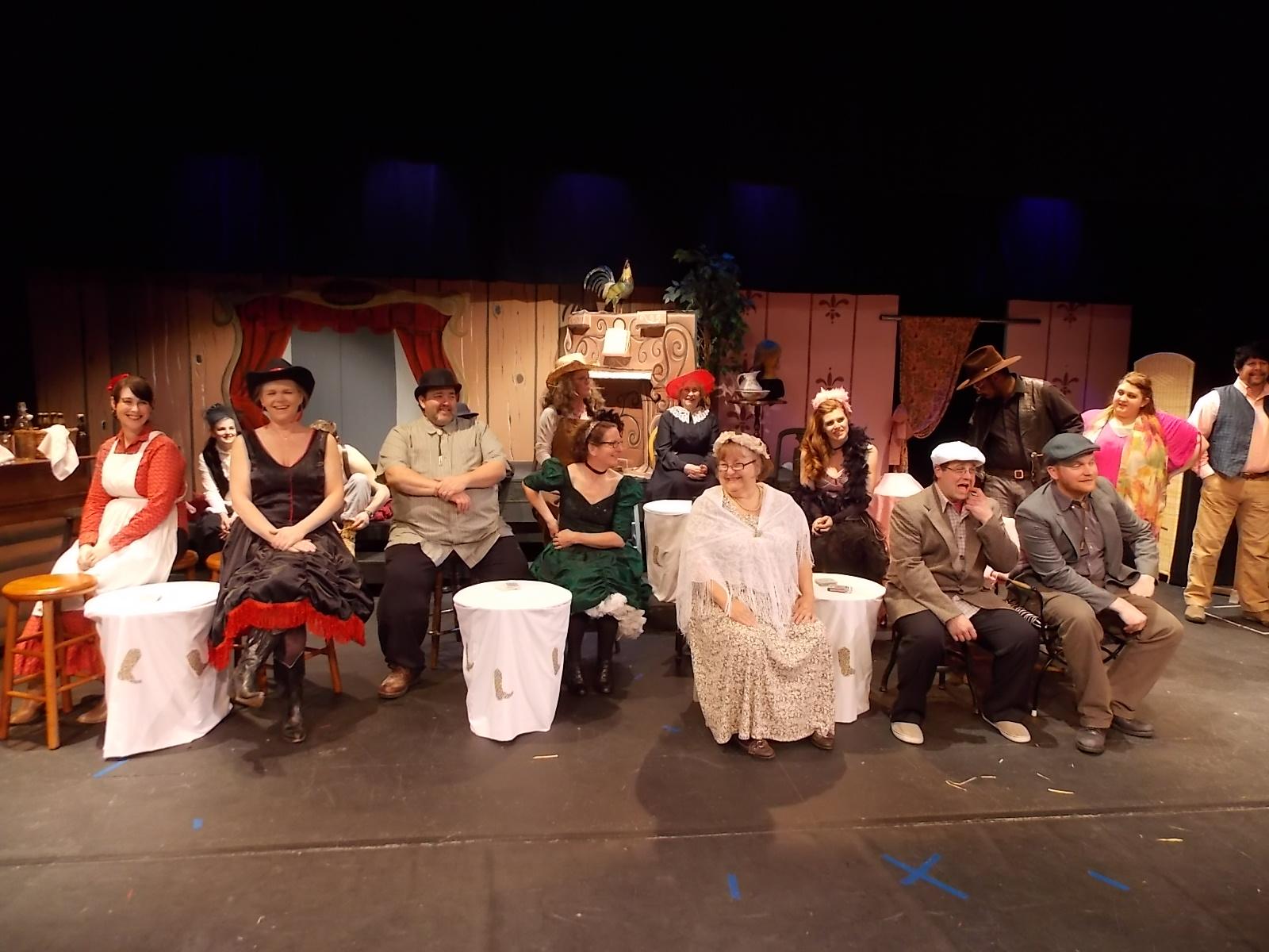 Mummers stage western melodrama