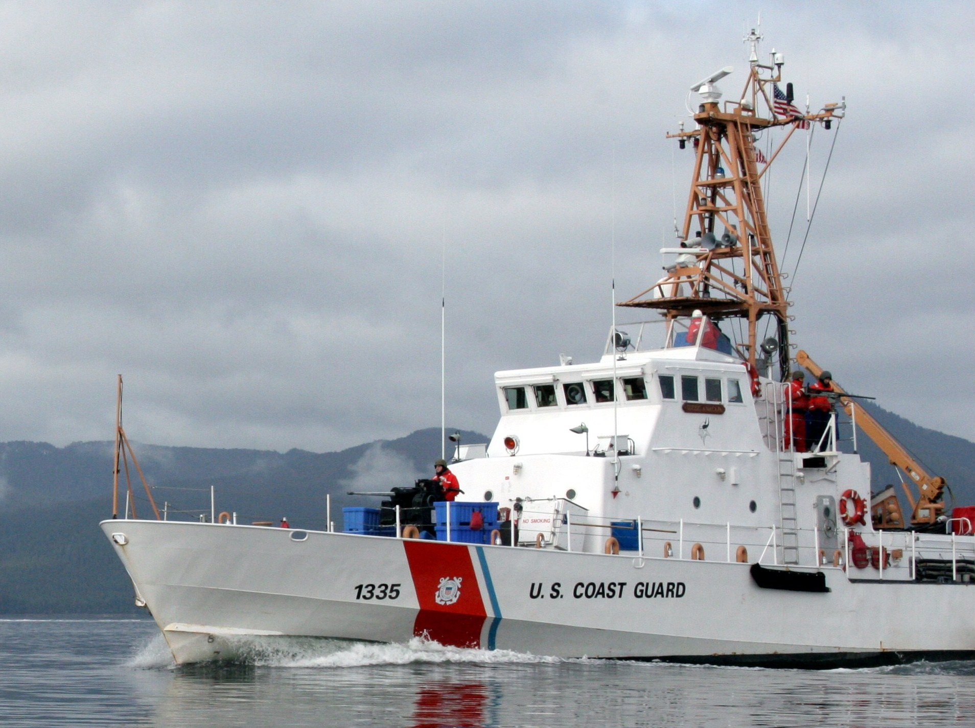 Aide says Coast Guard cutter not leaving Petersburg