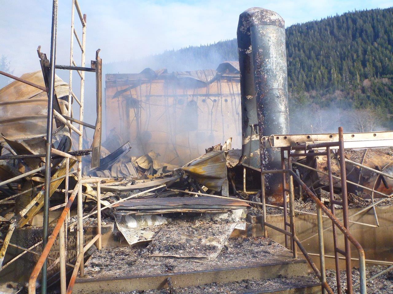 Hatchery salmon eggs lost in fire