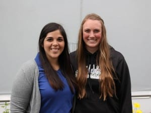 New Parks and Rec interns, Kendal Smith and Natalie Bell