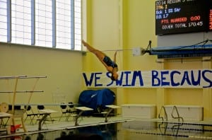 Izabelle Ith of Petersburg won the girls one meter diving event. Photo/Doug Fleming