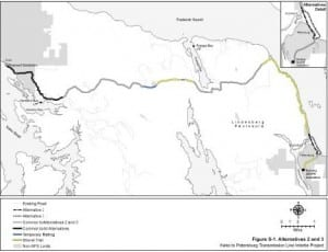 From the Kake to Petersburg transmission line draft EIS