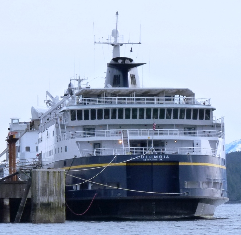Ferry Columbia in for repairs until August 31