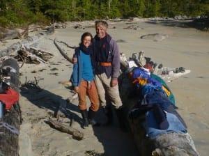 Katharina Guhlmann and Milan Pachlopnik camp according to the tides on their four month long kayak trip. Photo courtesy of Katharina Guhlmann