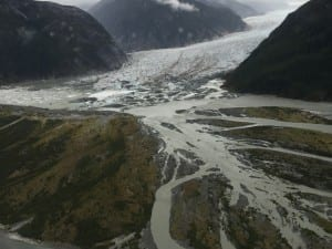 View of the out wash at Baird Glacier. Photo/Karen Dillman