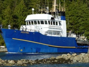 Research on Southeast fish stocks is done on the research vessel Kestrel, based in Petersburg.