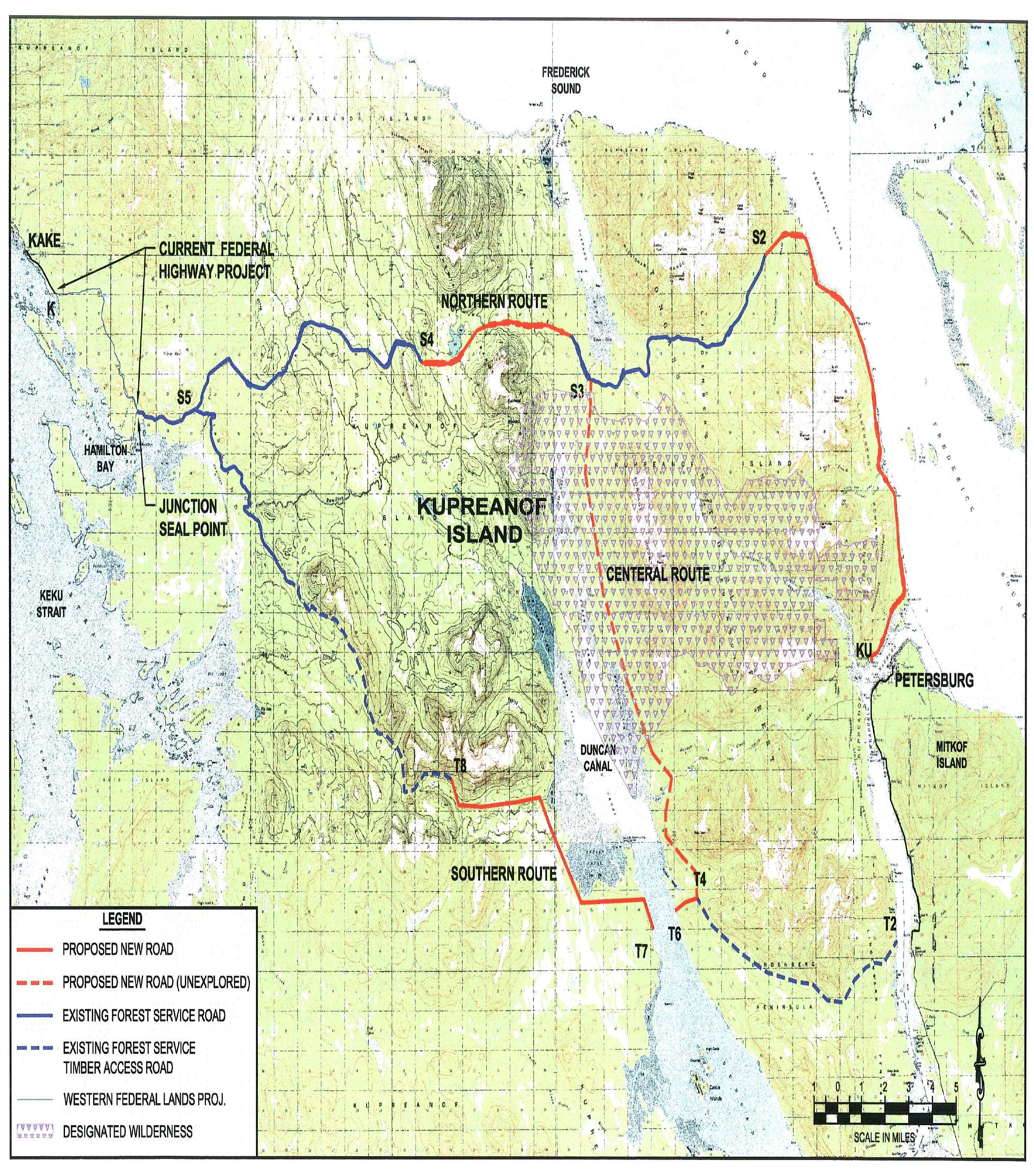 Kake Petersburg road one of eight state projects put on hold KFSK