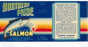 Canned salmon label courtesy of Karen Hofstad.