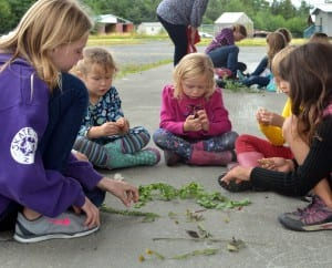 Girl Scouts study local plants in a botany work shop during a week-long camp. Photo/Angela Denning