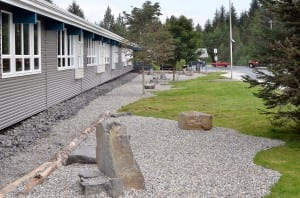 The Rae Stedman Elementary School's rock garden includes about 120 yards of rock. Photo/Angela Denning
