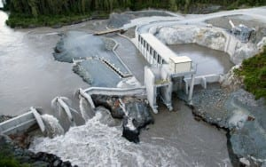 Altagas's Forrest Kerr run-of-the-river hydro-electric energy plant is on the Iskut River, a major tributary of the Stikine River. (Photo from altagas.ca)