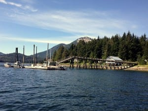 The state dock on Kupreanof is across the Wrangell Narrows from Petersburg's three harbors. (KFSK file photo)