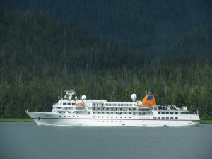 The Hapag-Lloyd ship Bremen is scheduled to return to Petersburg this summer. (KFSK file photo)