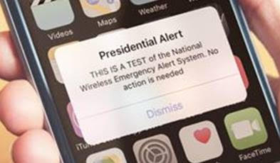 Nationwide Test of Wireless Emergency Alert System – Take Survey