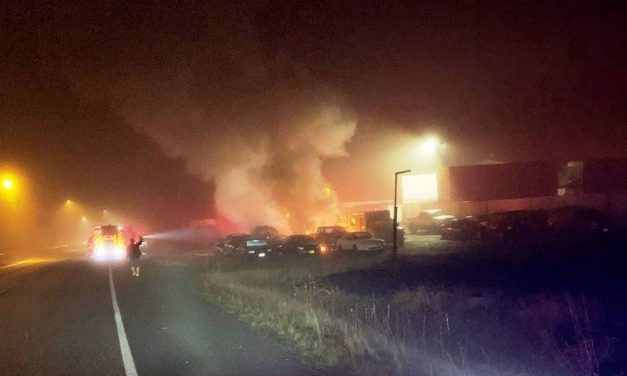 Arson suspected in Monday night vehicle fire