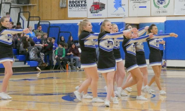 Cheer team first at regional tournament, heading to state