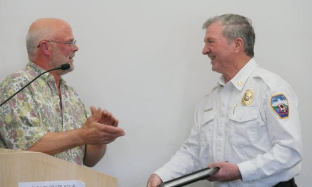 Retired fire chief honored for 50 years with volunteers