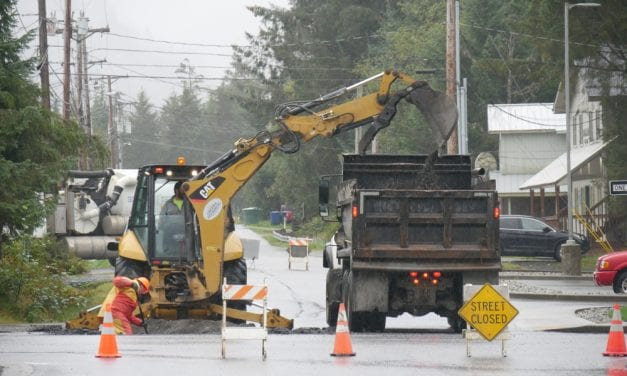 Water valve work shuts main road in Petersburg Monday