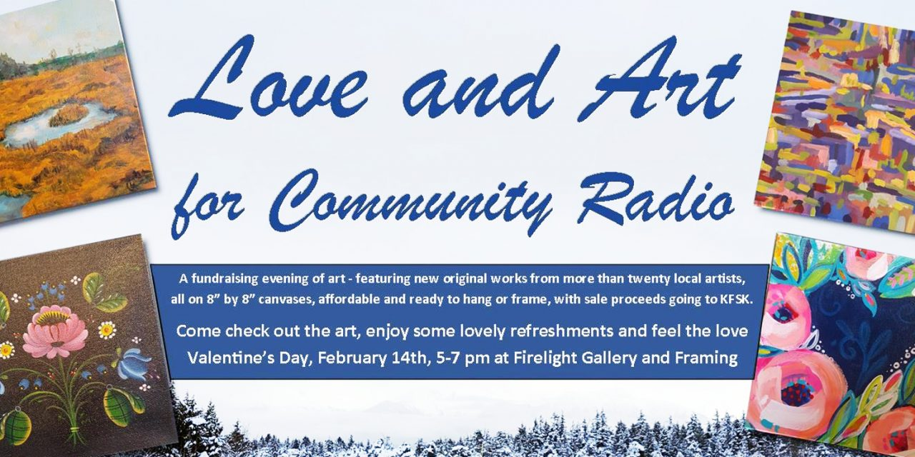 Show your love for KFSK – Valentine's Day community artists' reception